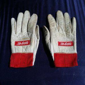 BRINE Lacrosse Gloves Vintage 1987 Womens Med Used